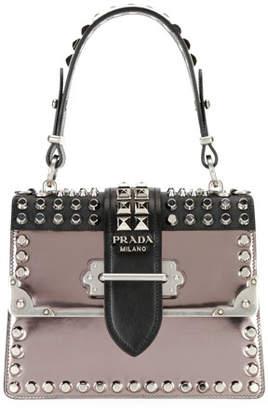 Prada Studded Cahier Top-Handle Bag
