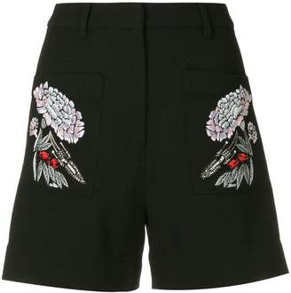Markus Lupfer floral embroidered shorts