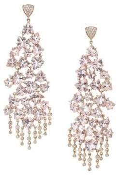 Hueb Diamond, Morganite& 18K Rose Gold Chandelier Earrings