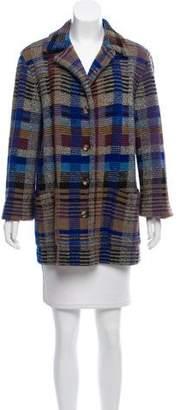 Missoni Short Plaid Coat
