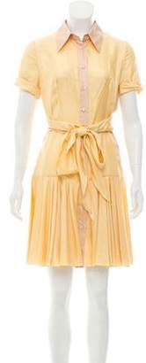 Prada Fluted Silk Dress