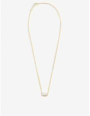 Kendra Scott Elisa 14ct gold and pave diamond necklace