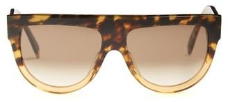 25e2a145ee3e Celine Shadow Aviator D Frame Acetate Sunglasses - Womens - Tortoiseshell