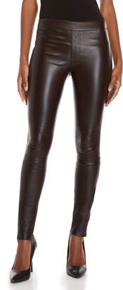Helmut Lang Brown Leather Leggings