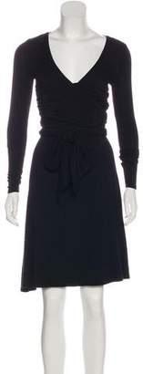 Ralph Lauren Black Label Long Sleeve Wrap Dress