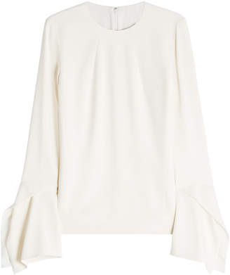 Victoria Beckham Crepe Top with Flared Cuffs