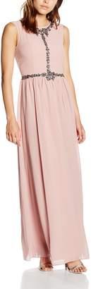 Little Mistress Women's Exposed Back Embellished Maxi Dress