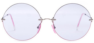 Christopher Kane Women&s Metal Oversized Round Sunglasses $375 thestylecure.com