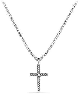 David Yurman Cable Classics Cross Necklace With Diamond