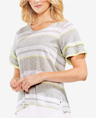 Vince Camuto Tiered Fringe T-Shirt