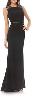 Women's Carmen Marc Valvo Infusion Embellished Stretch Gown $398 thestylecure.com