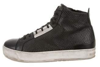 Neil Barrett Embossed Leather Sneakers