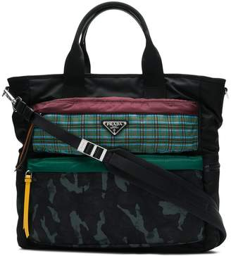 Prada multi-print shopping tote