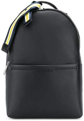 Calvin Klein striped webbed ribbon backpack