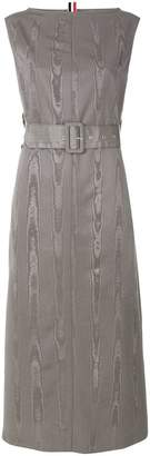 Thom Browne Belted Moire Tracee Sheath Dress