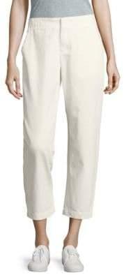 Leo & Sage Solid Cropped Cotton Pants