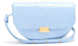 Wandler - Anna Crocodile Effect Leather Belt Bag - Womens - Light Blue