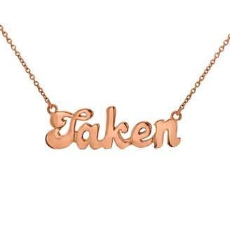 "True Rocks - Taken"" Necklace Rose Gold"