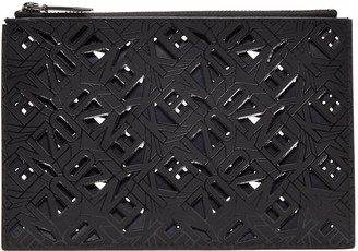Kenzo Black Flying Logo Pouch $195 thestylecure.com