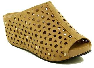 Refresh Elva Cutout Platform Wedge Sandal $39.99 thestylecure.com