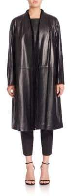 Lafayette 148 New York Tissue Weight Milana Leather & Shearling Coat
