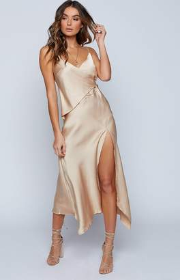 Beginning Boutique By The Light Maxi Dress Champagne