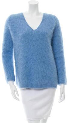 Sandro V-Neck Angora Sweater $125 thestylecure.com