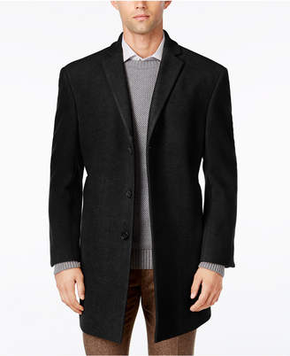 Calvin Klein Men's Prosper X-Fit Overcoat $350 thestylecure.com