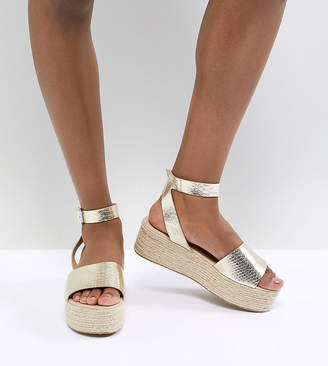 Asos Design DESIGN Thear Espadrille Flatform Sandals
