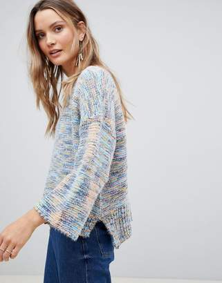 Lavand Abstract Linear Knit Sweater