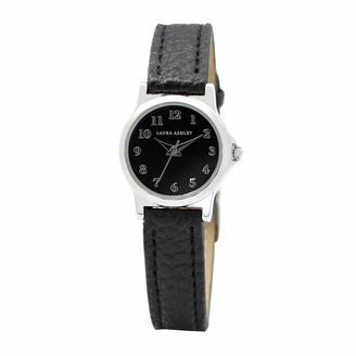 Laura Ashley Petite Band Womens Black Strap Watch-La31028ss $295 thestylecure.com
