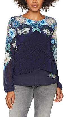 Desigual Women's Dreams Woman Woven Long Sleeve Blouse