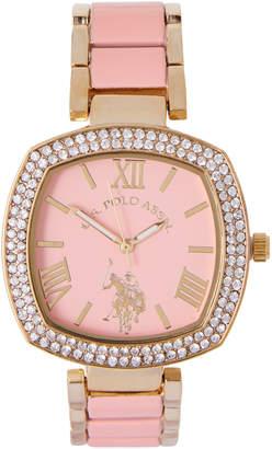 U.S. Polo Assn. USC40301 Gold-Tone & Pink Watch