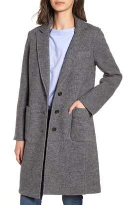 J.Crew Olga Boiled Wool Topcoat