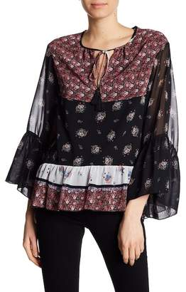 Rebecca Minkoff Willa Floral Bell Sleeve Blouse