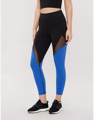 Michi Inversion cropped high-rise mesh-panel leggings