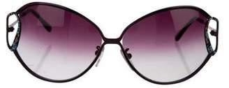 Emilio Pucci Printed Oval Sunglasses