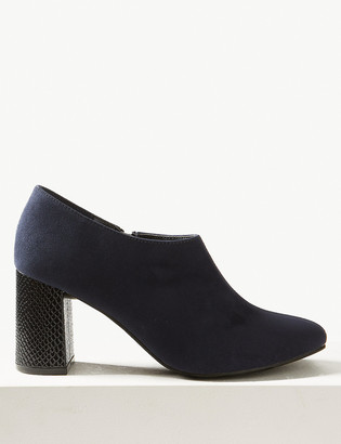 Marks and Spencer Block Heel Shoe Boots with Insolia