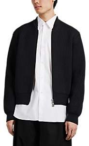 Takahiromiyashita theSoloist Men's Rib-Knit Wool Zip-Front Sweater - Black