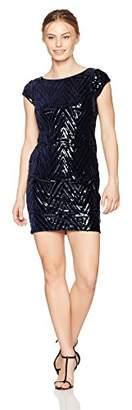 Eliza J Women's Cap Sleeve Sequin Sheath (Regular & Petite)
