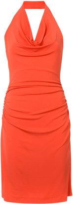 Nicole Miller cowl neck halter dress $290 thestylecure.com