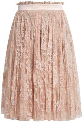Alexander McQueen Pleated lace skirt