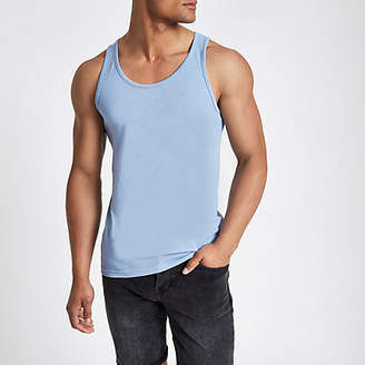 River Island Blue scoop neck tank