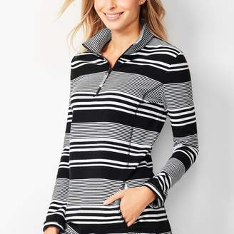 Talbots Mixed Stripe Terry Pullover
