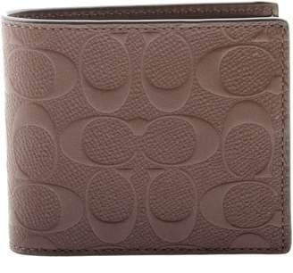 Coach Men's Compact Id Signature Crossgrain Leather Wallet in , F75371 MAH