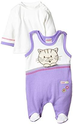 Schnizler Baby-Girls Clothing Set Crazy Cat Neck Long Sleeve Romper,(Manufacturer Size:56)