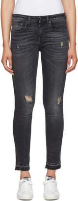 R 13 Black Alison Skinny Jeans