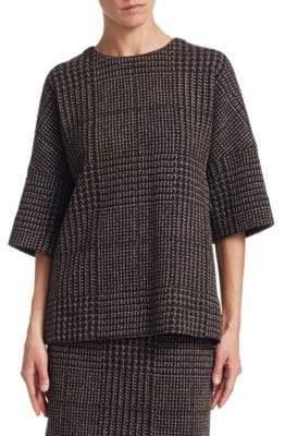 Akris Punto Houndstooth Jacquard Sweater