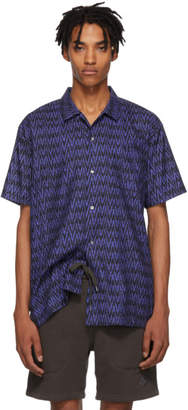 Double Rainbouu Navy and Black Sitar Noir Hawaiian Shirt