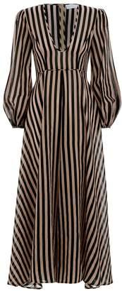 Jaya Plunge Long Dress
